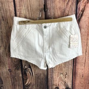 Free People Size 26 White Lace Festival Shorts